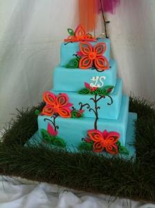 Fantasy Nature Wedding Cake