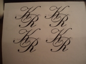 The Monogram that matched the invitation