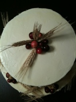 Buttercream with real wheat and cranberries