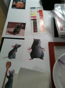 Closeup of the rats