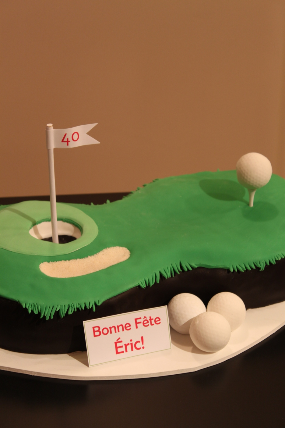 Golf Birthday Cake