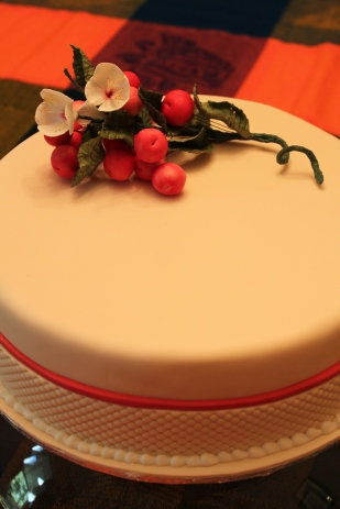 Simple Cherry-Blossom Birthday Cake