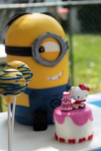 Stuart Minion Looking at Cake Pops
