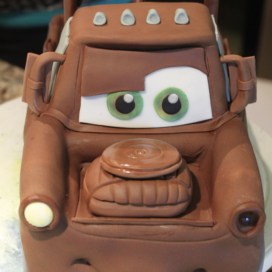 Tow-Mater Cars Themed Birthday Cake