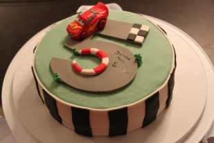 Five Year Old Cars Themed Birthday Cake